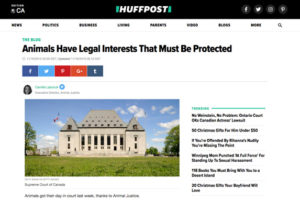 Animals have legal interests that must be protected