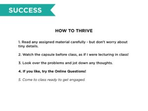 1) Thriving in the Flipped Classroom